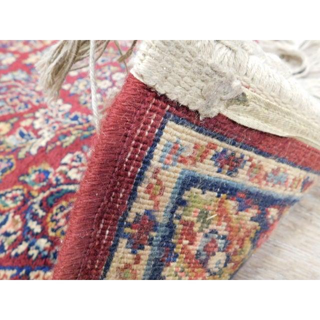 Karastan Red Sarouk #785 Rug 5' x 2' Multicolor Area Throw Rug For Sale - Image 11 of 13