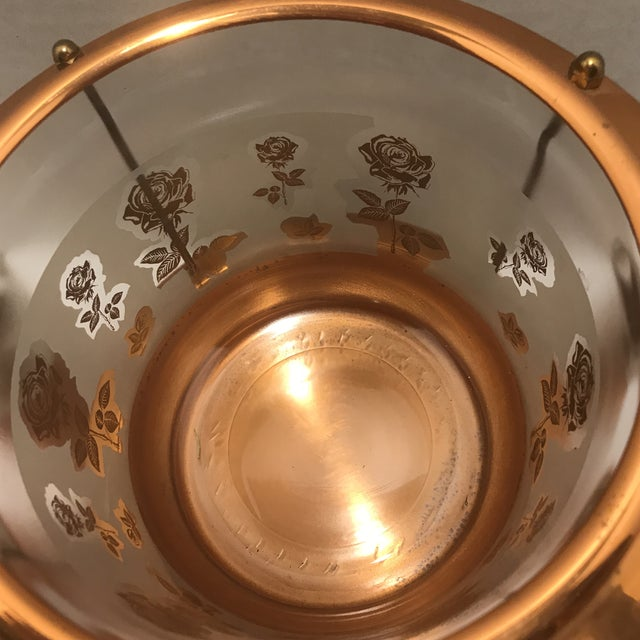 1950s Mid Century Modern Copper Detailed Ice Tea Set - 9 Pieces For Sale - Image 9 of 13