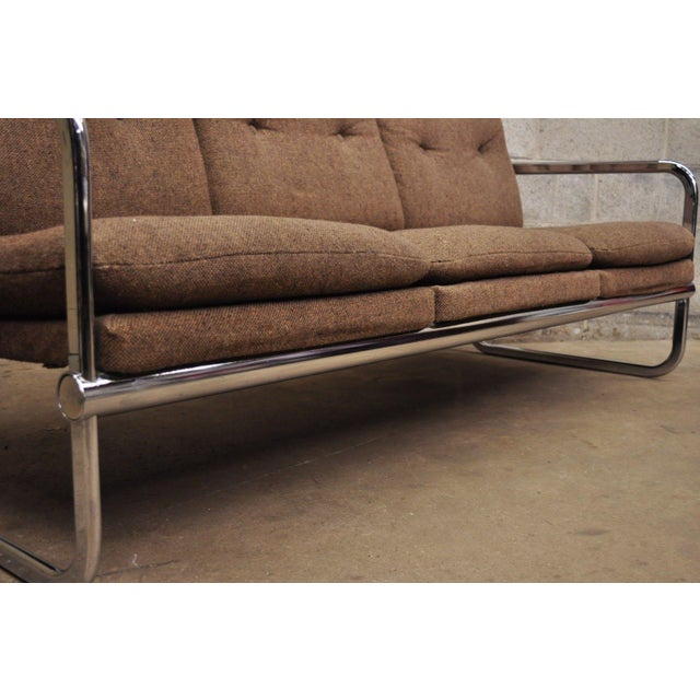 Milo Baughman Style Sofa by United Chair For Sale - Image 11 of 12