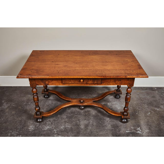 Mid 18th Century 18th C. Louis XIII Walnut Library Table For Sale - Image 5 of 10