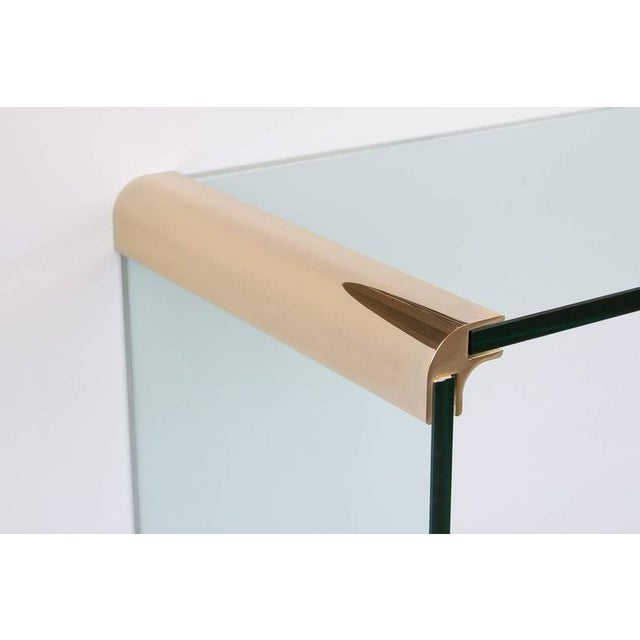 Pace Collection Leon Rosen for Pace Waterfall Console Table-Pair Available For Sale - Image 4 of 6