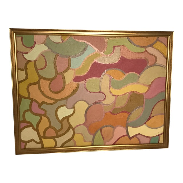 Lois Stecker Acrylic Abstract Painting For Sale