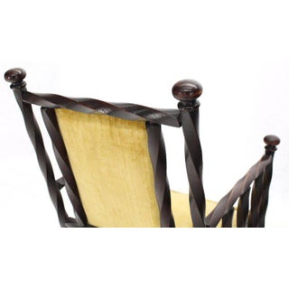"Arts & Crafts Rocking Chair of ""Twisted"" Wood Frame Preview"