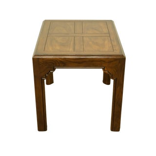 20th Century Traditional Henredon Four Centuries Collection Solid Oak Accent/End Table For Sale