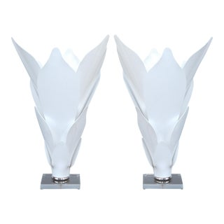Acrylic Sculptural Lamps in the Style of Rougier