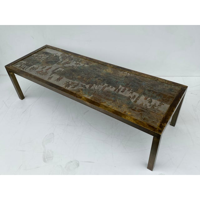 Philip and Kelvin LaVerne Etched Bronze Coffee Table For Sale - Image 13 of 13