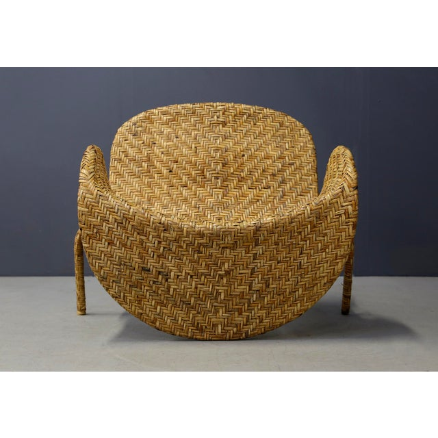 Italian Mid-Century Armchairs in Beige Colored Rattan, 1950s For Sale - Image 12 of 12