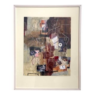 """Contemporary Abstract Mixed Media Collage """"Art & Music"""" by Ellen Reinkraut For Sale"""