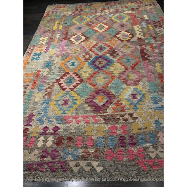 """Bellwether Rugs Wool Kilim Rug - 6'8"""" x 10' - Image 8 of 11"""