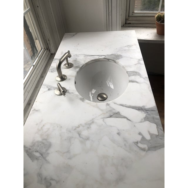Ceramic Modern Waterworks Sink/Vanity Fixture For Sale - Image 7 of 13