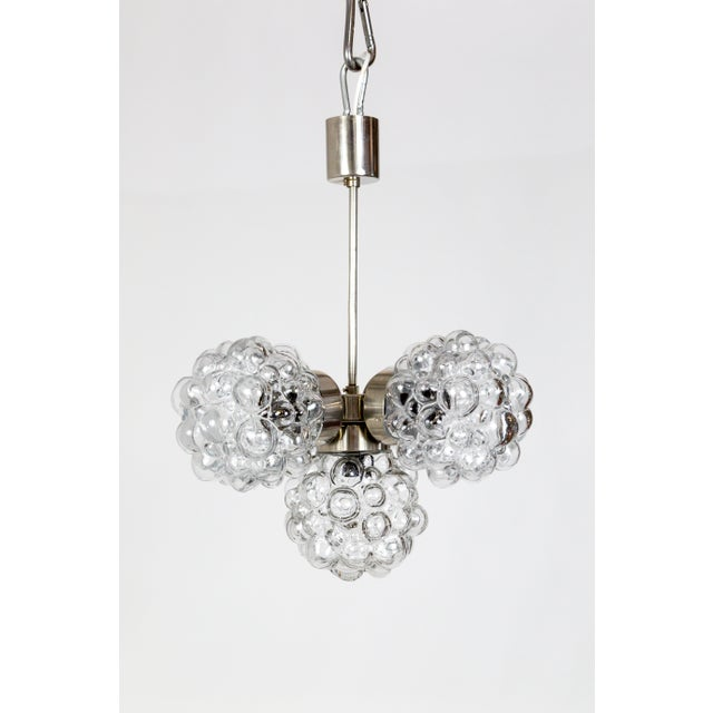 Bubble Glass Cluster Chandelier by Helena Tynell (2 Available) For Sale In San Francisco - Image 6 of 9