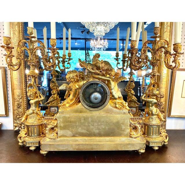 19th. C. French Louis XVI Dore Bronze Garniture Set For Sale - Image 10 of 13