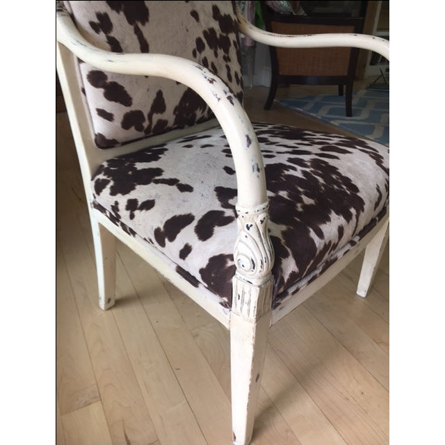 Faux Cowhide Armchair - Image 4 of 5