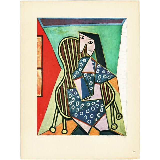 "1943 Picasso Original ""Femme Assise"" Period Lithograph For Sale - Image 9 of 10"