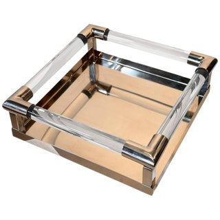 1980s Vintage Lucite Tray For Sale