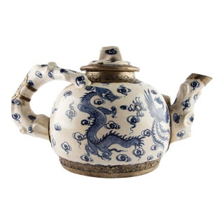Oversize Dragon and Phoenix Teapot For Sale