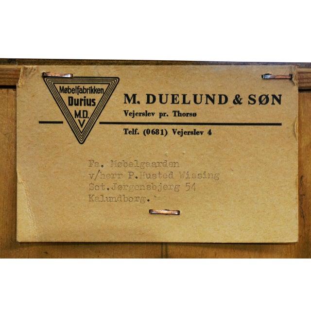 "Brown Original Danish MCM Durius Teak Wardrobe / Armoire - ""Adelgade"" For Sale - Image 8 of 9"