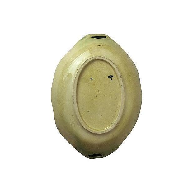 English Majolica Platter With Handles - Image 2 of 2