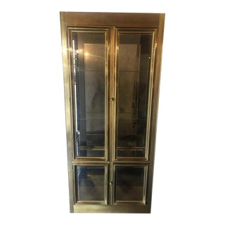 Mastercraft Brass Vitrine/Display Cabinet For Sale
