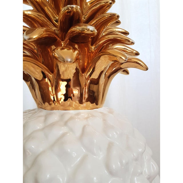 Ceramic Large Ceramic Pineapple Lamp, Mid Century Modern, France by Maison Lancel For Sale - Image 7 of 11