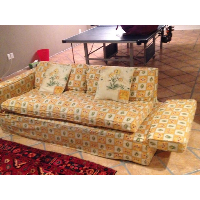 Down Filled Twin Size Sleeper Sofa - Image 6 of 11