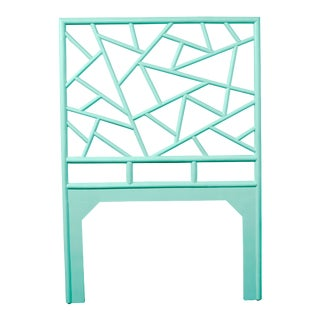 Tiffany Headboard Twin - Turquoise For Sale