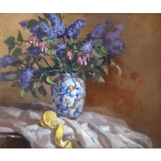 John C. Traynor, Lilacs Painting For Sale