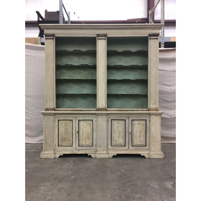 19th Century Italian Tuscan Painted Bookcase Display Cabinet For Sale - Image 12 of 13