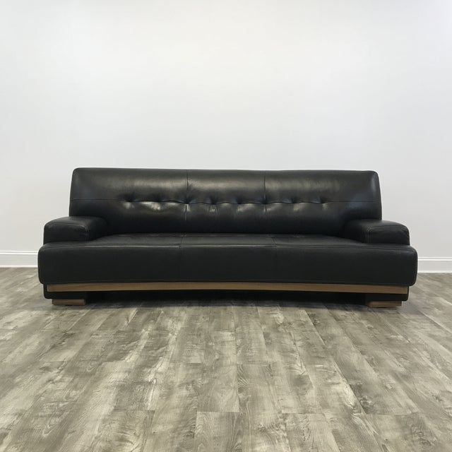 Stupendous Curved Black Leather Julian Sofa Gmtry Best Dining Table And Chair Ideas Images Gmtryco