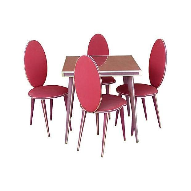 50's Umberto Mascagni Italian Card Table Set - Image 1 of 7