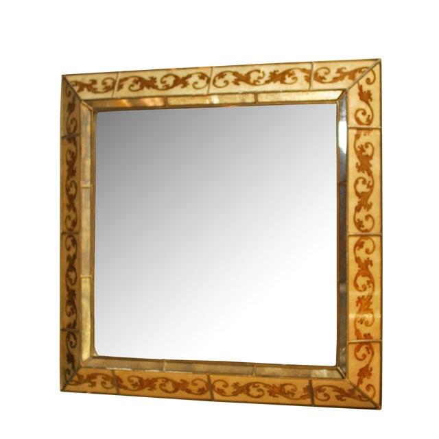 Venetian Style Reverse Painted Mirror - Image 1 of 4
