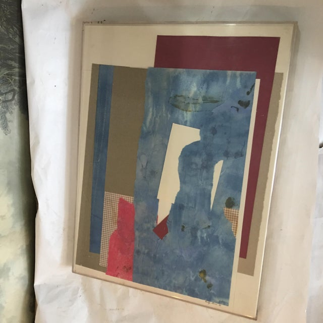 Mitzi Levin Abstract Collage, 1983 - Image 3 of 10
