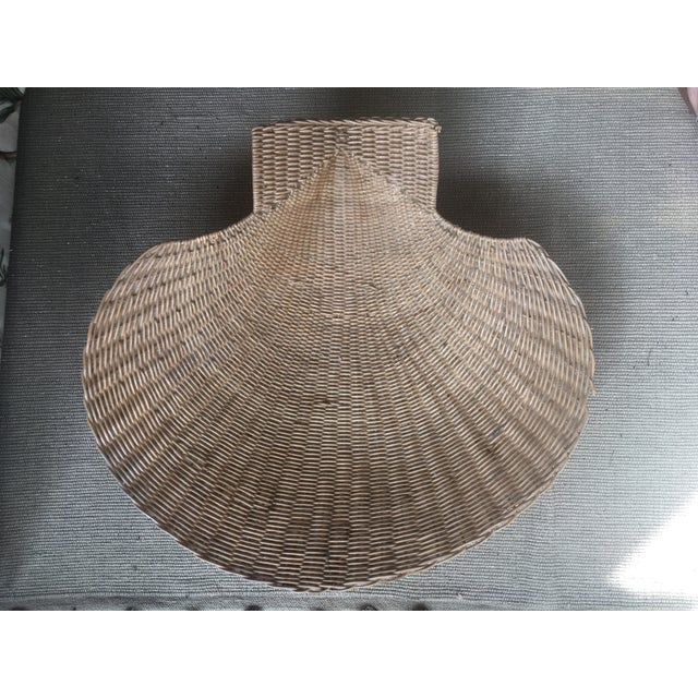 1960s Vintage Wicker Shell Bowl For Sale - Image 5 of 5