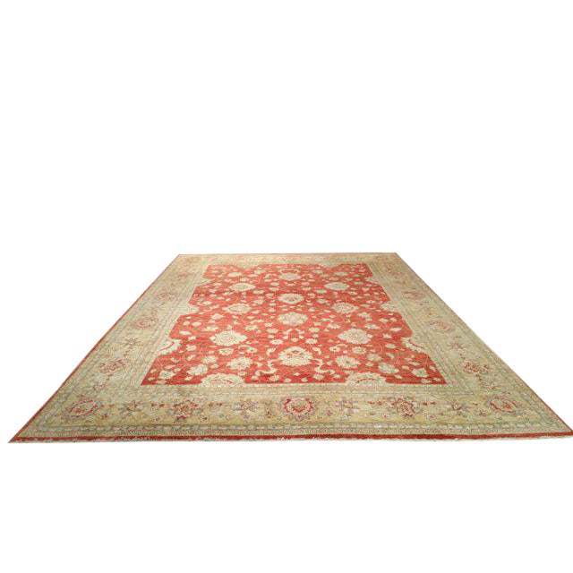 Traditional Handmade Knotted Rug - 10x14 For Sale