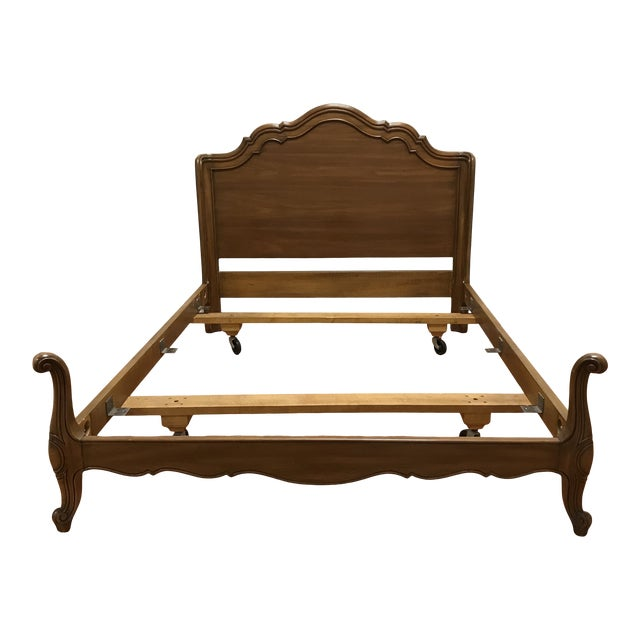 John Widdicomb Maker of Fine Furniture Full Double Bedframe For Sale