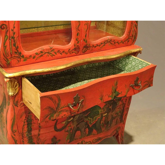 Irwin & Lane James Reynolds Chinoiserie Display Case on Commode For Sale - Image 4 of 13