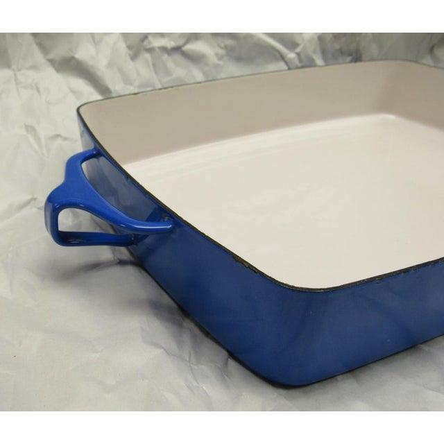 Mid-Century Modern 1970s Dansk Kobenstyle Blue Enamel Lasagna Baking Casserole Dish For Sale - Image 3 of 6