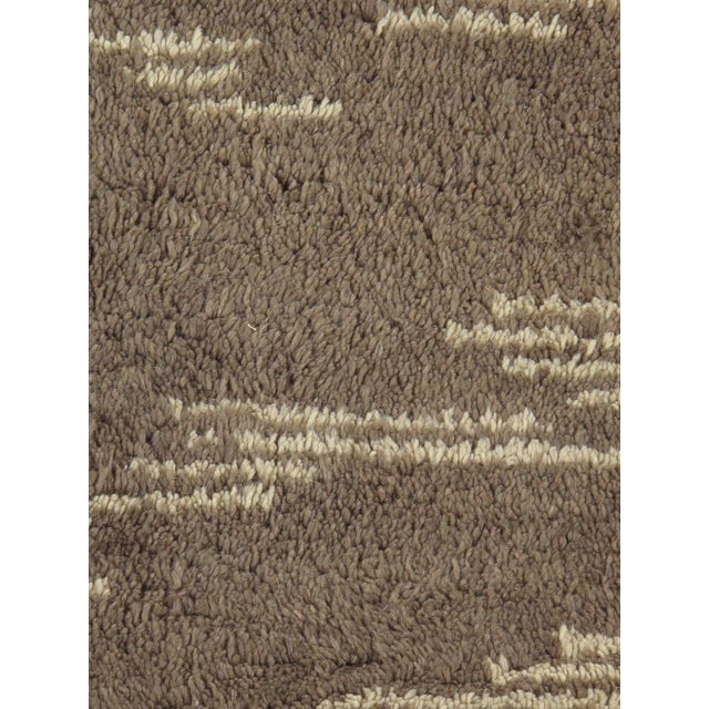 Moroccan Shag Style Wool Area Rug - 5' x 8' - Image 2 of 4