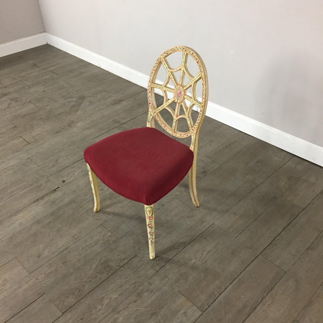 Hand Painted Side Chair - Image 4 of 10