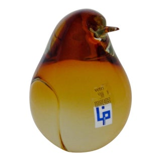 Vintage Murano Glass Penguin For Sale