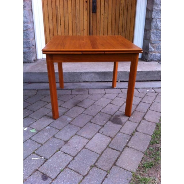 Danish Modern Drop-Leaf Dining Table - Image 5 of 7