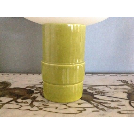 Green Italian Mushroom Lamp, Italy C.1960 For Sale - Image 4 of 6