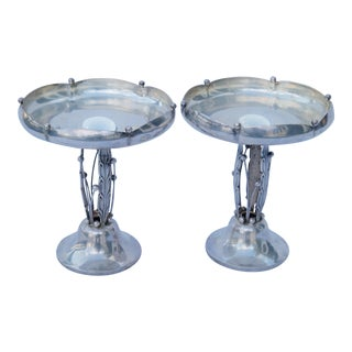 Vintage Woodside Silver Co. Sterling Silver Compotes - a Pair For Sale