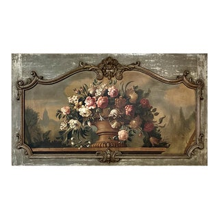 Grand Antique Oil Painting on Canvas ~ Classical Still Life For Sale