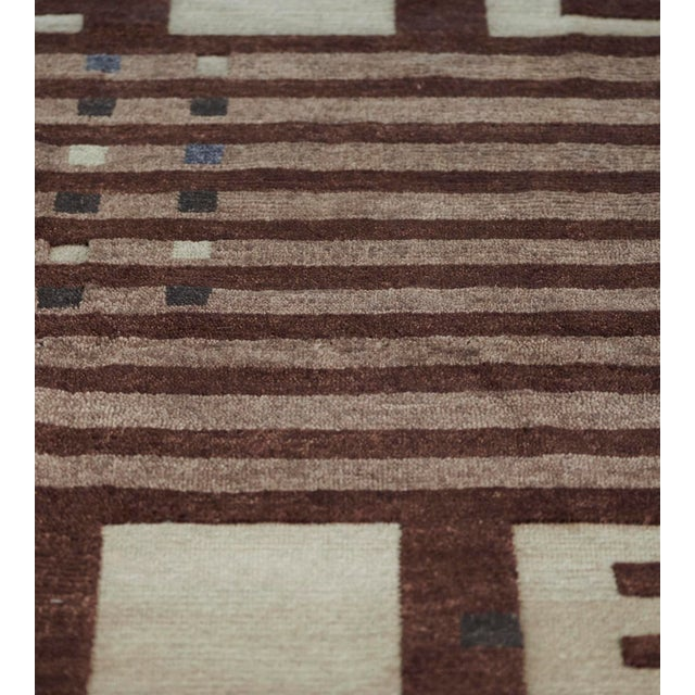 MANSOUR Mansour Modern Handwoven Swedish Inspired Contemporary Wool Rug For Sale - Image 4 of 7
