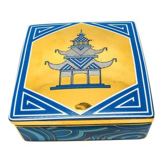 Jonathan Adler Blue & Gold Pagoda Box