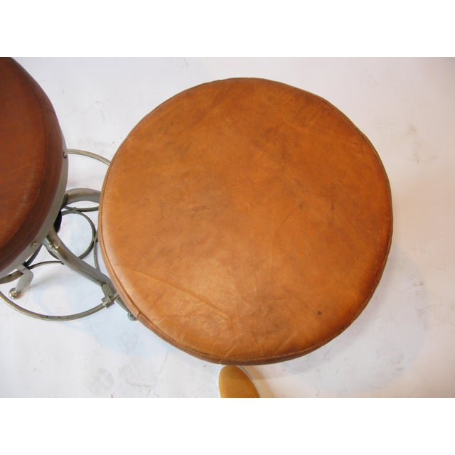 Pair of Silver Tri Leg Stools For Sale - Image 4 of 7