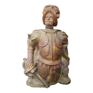 Mid 20th Century Spanish Conquistador Fiberglass Wall-Hanging Sculpture For Sale