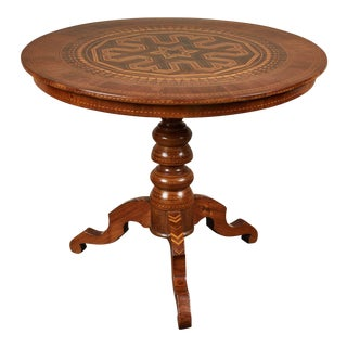 19th Century Inlaid Italian Circular Table From Rolo For Sale