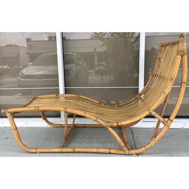 Mid-Century Modern Franco Albini Bamboo Chaise Longue For Sale - Image 3 of 7